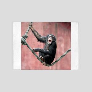 Chimpanzee001 5'x7'Area Rug