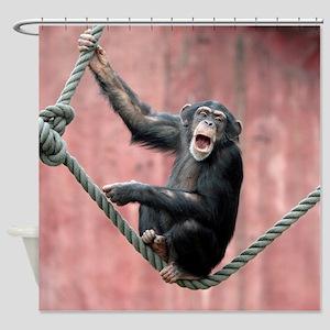 Chimpanzee001 Shower Curtain