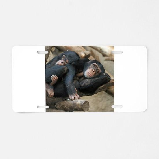Chimpanzee006 Aluminum License Plate