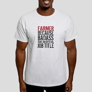 Farmer Badass Job Title T-Shirt