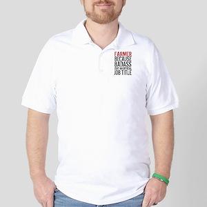 Farmer Badass Job Title Golf Shirt