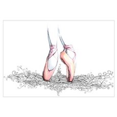 ballet slippers Framed Print