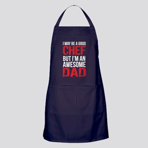 Awesome Chef Dad Apron (dark)