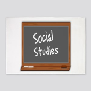 Social Studies 5'x7'Area Rug
