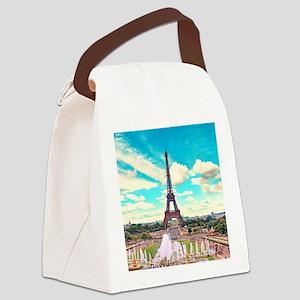 Paris Canvas Lunch Bag
