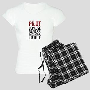Pilot Badass Job Title Women's Light Pajamas