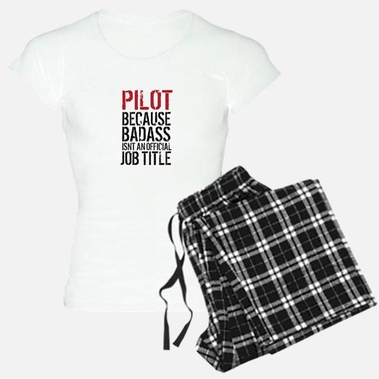 Pilot Badass Job Title Pajamas