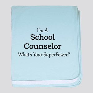 School Counselor baby blanket