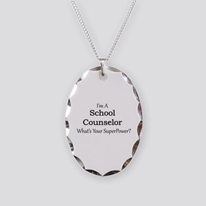 School Counselor Necklace Oval Charm