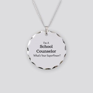 School Counselor Necklace Circle Charm