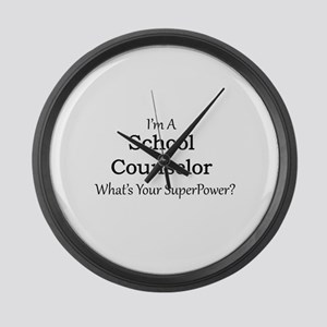 School Counselor Large Wall Clock