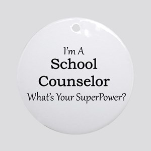 School Counselor Round Ornament