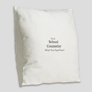 School Counselor Burlap Throw Pillow