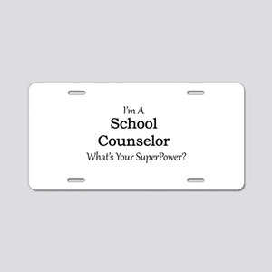 School Counselor Aluminum License Plate