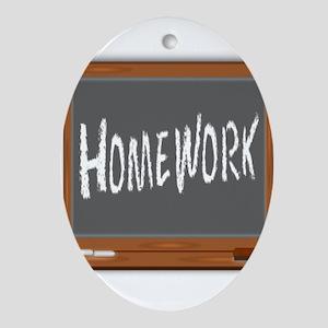 Homework Oval Ornament