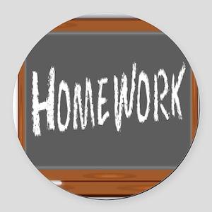 Homework Round Car Magnet