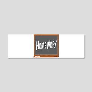 Homework Car Magnet 10 x 3