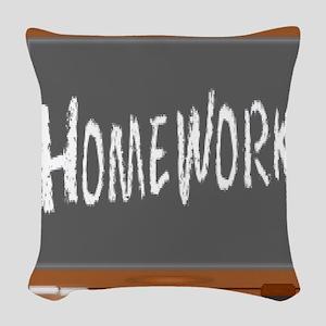 Homework Woven Throw Pillow