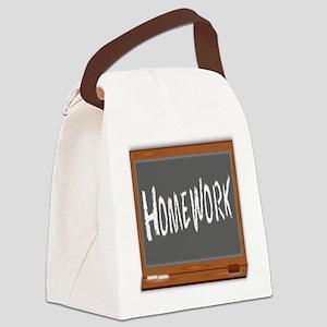 Homework Canvas Lunch Bag