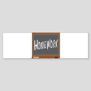 Homework Bumper Sticker