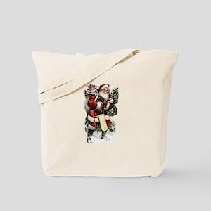 Vintage Santa Tote Bag