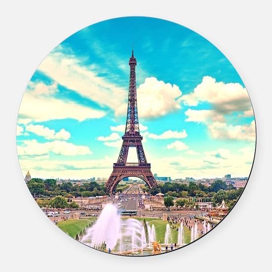 Paris Round Car Magnet