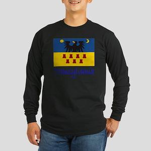 Flag And Name Long Sleeve Dark T-Shirt