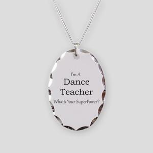 Dance Teacher Necklace Oval Charm