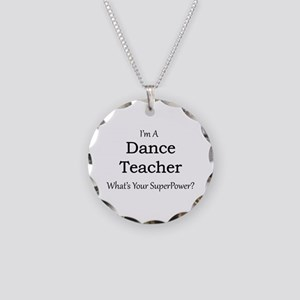 Dance Teacher Necklace Circle Charm