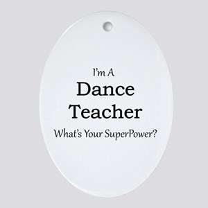 Dance Teacher Oval Ornament