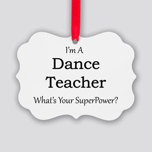 Dance Teacher Picture Ornament