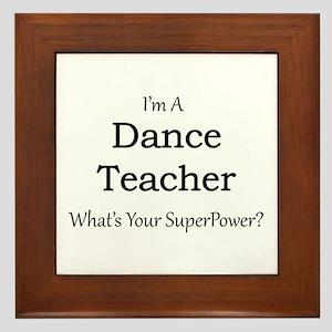 Dance Teacher Framed Tile