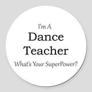 Dance Teacher Round Car Magnet