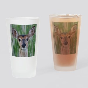 Deer in the Cattails Drinking Glass