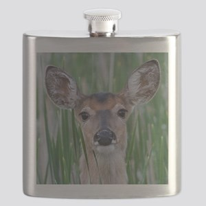 Deer in the Cattails Flask