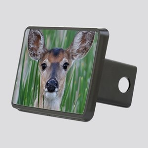Deer in the Cattails Rectangular Hitch Cover