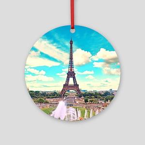 Paris Round Ornament