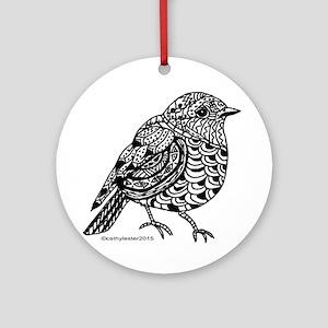 Little Bird 1 Round Ornament