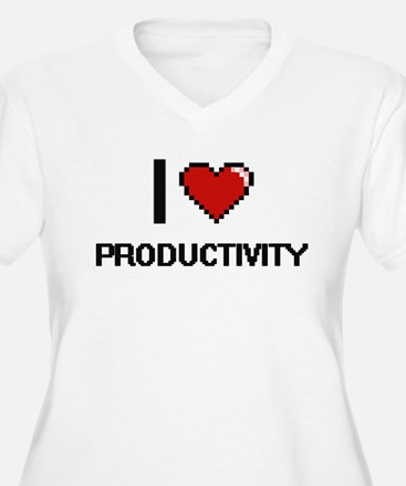 I Love Productivity Digital Desi Plus Size T-Shirt