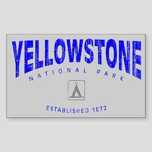Yellowstone National Park (Arch) Sticker (Rectangu