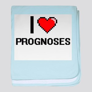 I Love Prognoses Digital Design baby blanket