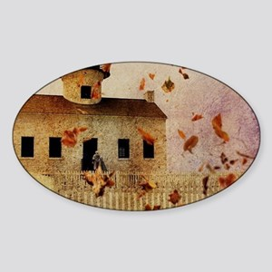 fall leaves country house Sticker