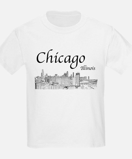 Chicago on White T-Shirt