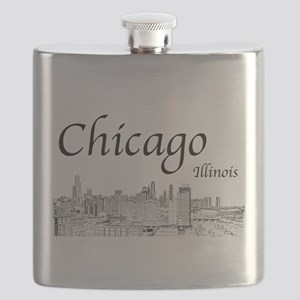 Chicago on White Flask