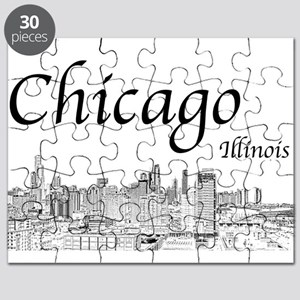 Chicago on White Puzzle