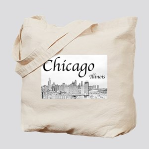 Chicago on White Tote Bag