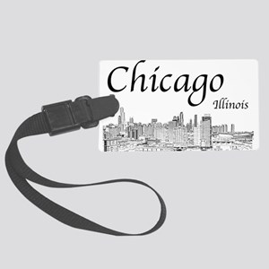 Chicago on White Luggage Tag