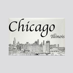 Chicago on White Magnets