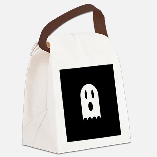 Cute Scary Halloween Ghost Canvas Lunch Bag
