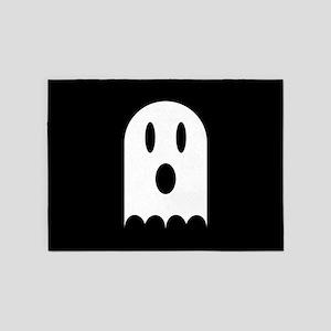 Cute Scary Halloween Ghost 5'x7'Area Rug